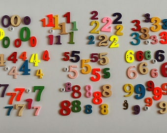 Mixed style Numbers, 0.5-2.5cm, 0-9 set or 10g