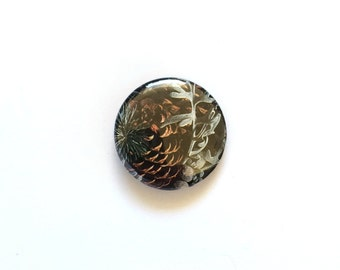 "Pinecone 1"" 25mm Button"