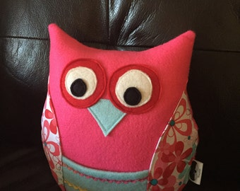 Tooth fairy pillow , owl tooth fairy pillow, girls tooth fairy pillow, owl pillow, kids pillow