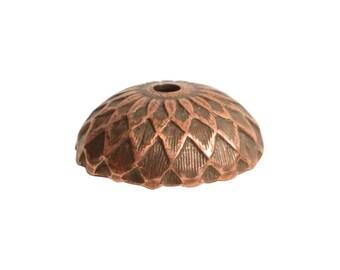 Bead Cap - Acorn - Antique Copper (plated) - ONE