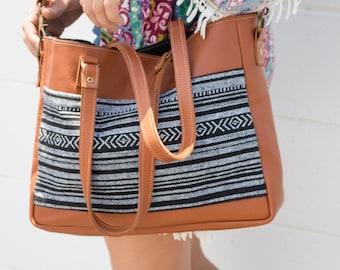 Leather Tote Bag, Shoulder Bag, Leather Crossbody Satchel - Handmade in Australia