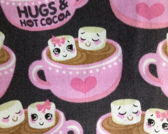 One Half Yard of Fabric Material - Hugs and Hot Cocoa