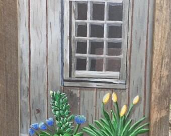 Looking in window
