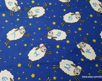 Flannel Fabric - Counting Sheep - 1 yard - 100% Cotton Flannel