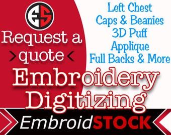 Custom Machine Embroidery Digitizing, Your Logo Digitized