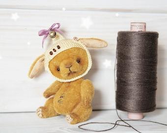 Elf Bunny Sadny - Artist teddy OOAK 2.3 inches (6 cm)