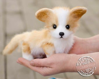 Welsh Corgi (is possible repeat to order) Dog Plush Toy, Puppy Plush, Dog Stuffed Animal, Stuffed Toy