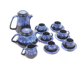 25 % OFF (Until July 13) German Lava Ceramic Coffee Set.