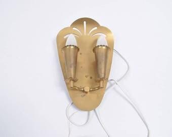 brass 60s wall light