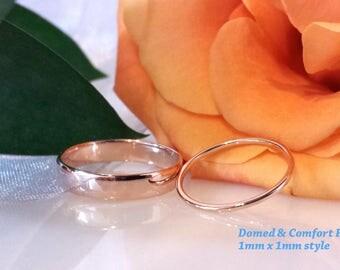 thin rose gold wedding band ring white gold wedding band ring yellow gold spacer guard band - Gold Wedding Ring