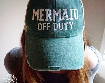 Mermaid Off Duty Hat, Mermaid, Mermaid Hat