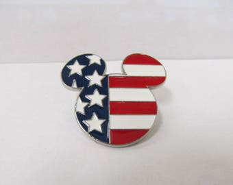 Collectible American Flag Mickey Mouse Pin W #157