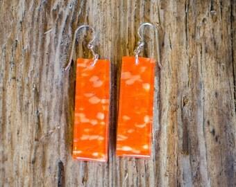 orange sunshine earrings