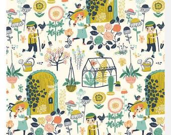 Hidden Garden POPLIN - MAIN by Miriam Bos - Organic Cotton (0.25m)