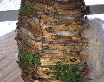 Bird Nest House - Bird Lovers Gift - Outdoor Decor - Alpaca Bird Nesting - Holiday Gift - Gift of Nature - Llama Fiber - Alpaca Fiber