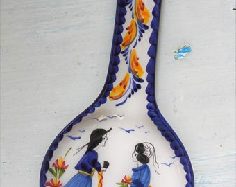 Romance Collection Portuguese Hand painted Ceramic Faiance - Spoon Rest