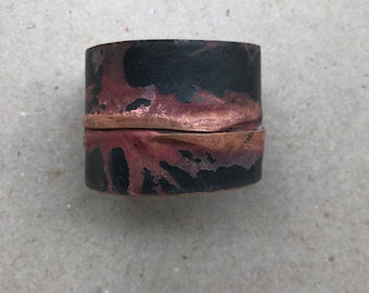 Recycled Copper and Steel Cuff Bracelet
