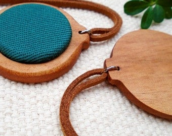 Handmade Wooden Embroidery Hoops. Low relief center. Circular Shape