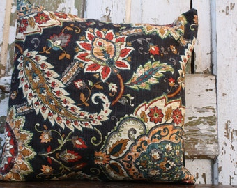 Home Decor Waverly Paisley Pillow Cover, Throw Pillow  12x16, 16x16, or 18x18