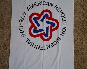 Vintage Bicentennial American Revolution 1776-1976 commemorative flag 3 ft by 5 ft Bulldog 100% Cotton Bunting Dettra Flag Products