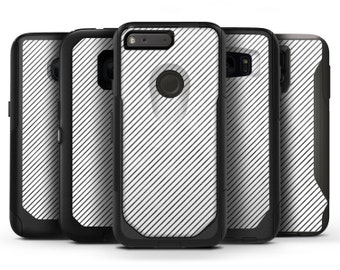 Black and White Diagonal Stripes - OtterBox Case Skin-Kit for the iPhone, Galaxy & More