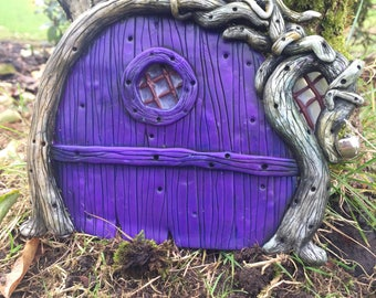 Purple Woodland Fairy Door