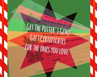 The Potter's Gems Gift Certificate