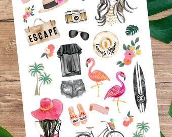 SPRING BREAK Clipart Stickers for your Planner