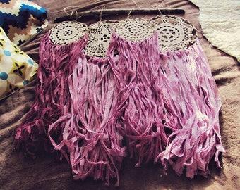 Lace Dreamcatchers Set Wall Hanging Decor - Boho Bedroom - Custom Dreamcatchers - Gypsy Lace Dream Catchers - Hippy Nursery - Wedding Gift