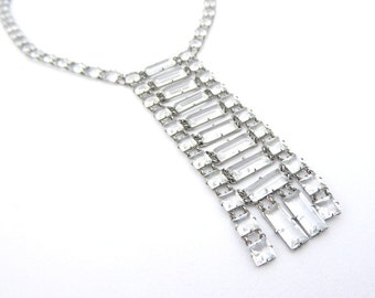Necklace Vintage Platinon Crystal Sautoir Wedding Necklace