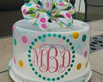 Personalized Cake Carrier - Monogram birthday cakes