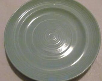 Concentrix Sea Mist (Green) by Lynn's China Stoneware Large Salad Plate Looks Like Homer Laughlin