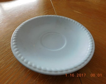 1 Homer Laughlin Made in USA Kraft Blue Saucer