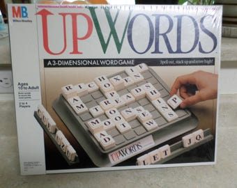 Up Words NEW in Package A 3-Dimensional Word Game Ages 10 to Adult