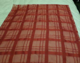Red Scarf Made in Italy 100% Polyester