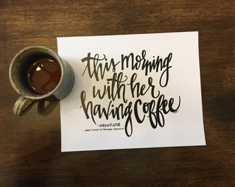 This Morning, With Her, Having Coffee -Johnny Cash