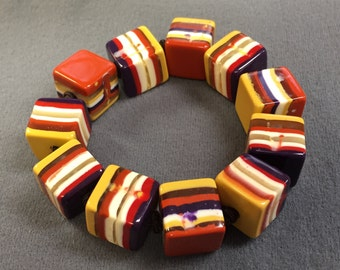 Big Chunky Colorful Lucite Bracelet-Free shipping