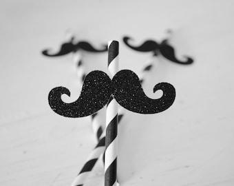 Mustache straws ,Mustache bash, paper straws, Mustache party