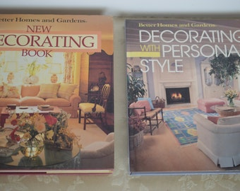 Vintage Decorating Books, Hard Cover, Better Homes and Garden, Lot of 2, Copyright 1990 & 1989 By Merridith Corporation, Gorgeous Lot of 2