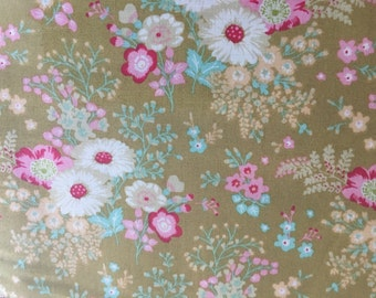 Tilda Memory Lane in Olive Patchwork craft quilting Cotton fabric ~ full meter