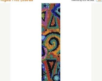 SALE HALF PRICE off Instant Download Beading Pattern Peyote Stitch Bracelet Mosaic Seed Bead Cuff