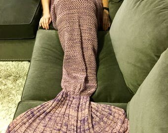 Pink Adult Mermaid Tail Blanket