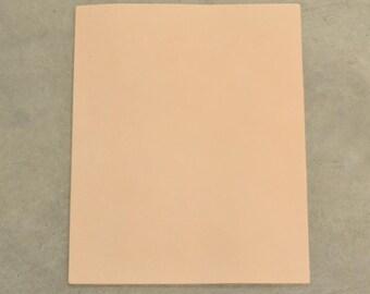 "Pre-cut Natural Leather Cow Hide Veg Tan 8"" x 10"" Pre-Cut  3-4 oz smooth DE-53129 (Sec. 7,Shelf 4; A)"