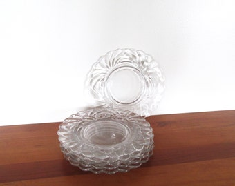 Cambridge Glass Caprice Elegant Glass Luncheon Plates Set of Six