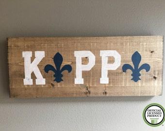 Kappa Kappa Gamma wood handmade  sign fan outline fleur de lis Officially Licensed