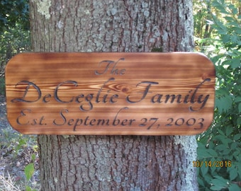 Personalized Sign, Custom Wood Sign, Hand Made Wood Sign, Wood Sign, Indoor Outdoor Sign, Garden Sign