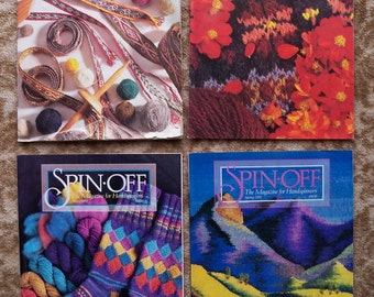 REDUCED - 1992 Full Set of Spin-Off Wool Magazine for Handspinners