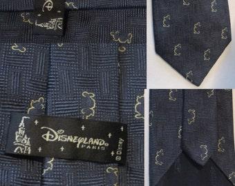 accessoire vintage cravate homme 100% soie Disneyland Paris soie cravate cérémonie mariage vintage animaux