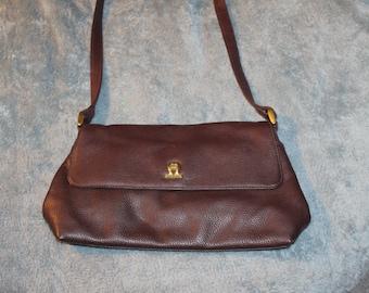 Vintage Etienna Aigner Handbag or Purse, Great for Everyday Use, Maroon Color, Medium Size, Authentic, Shoulder Bag, Genuine Leather