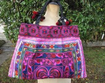 Handbag, shoulder bag, tote bag, bag multicolor shopping, ethnic 9
